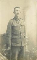 WW1 - DEVONSHIRE REGT? - CREDITON PHOTOGRAPHER ~ A REAL PHOTO POSTCARD #88110 - War 1914-18
