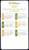 ITALIA - SEGNALIBRO / BOOKMARK - CALENDARIO 2019 - BANCO ALIMENTARE - OGNI GIORNO E' UN BUON GIORNO PER AIUTARE! - Calendari