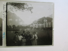 SUISSE - INTERLAKEN  -  Plaque De Verre Stéréoscopique 6 X 13 - TBE - Plaques De Verre