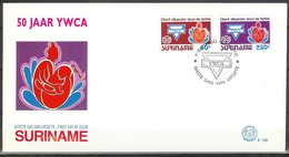 Mel156b Y.W.C.A. YOUNG WOMAN CHRISTIAN ASSOCIATION SURINAME 1992 FDC - Suriname