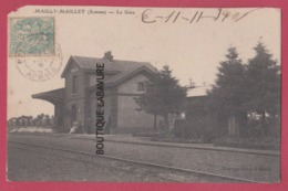 80 - MAILLY-MAILLET---La Gare---animé - France