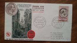 Premier Jour  FDC..  GERARD  DE  NERVAL .. 1955.. PARIS  .. - Other