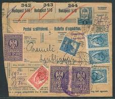 SLOVENIA. 1916 (27 April). Budapest - Slovenia / Ljubljana. Reg Multifkd Stat Receipt + Adtl With Slovenian 6d Rate, Tie - Slovénie