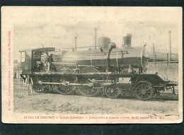 CPA - LE CREUSOT - Usines Schneider - Locomotive à Grande Vitesse, Animé - Matériel