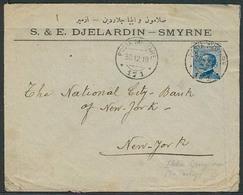 ITALIAN Levant. 1919 (30 Dec). Smyrne - USA. Fkd Env, Cds Posta Militare / 171. VF. - Italien