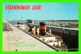 SHIP, BATEAU - EISENHOWER LOCK ON THE ST LAWRENCE SEAWAY AT MASSENA, NY - - Ferries