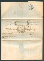 USA. 1837 (4 July). Canton / Mass - France. EL Full Text Via NY Ship Normandie To Havre, Arrival 6d + Boxed Pays D'outre - Unclassified