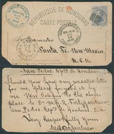 HONDURAS. 1882. San Pedro - USA. 3c Lilac Stat Card / Cds + Via Comayagua, Puerto Cortez And N Orleans. All On Front. De - Honduras