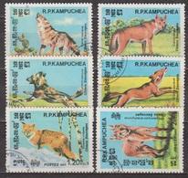 Chien Sauvage, Animaux, Faune - KAMPUCHEA -  Canis Dingo, Lycaon, Loup à Crinière - 1984 - Kampuchea