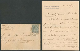 E-PROVINCIAS. 1891 (13 Feb). 221º. Sevilla / Palacio De Villamanrique - Italia. Sobre Franqueado Mat Ambulante Huelva. C - Espagne