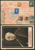 SLOVAKIA. 1940 (14 March). Ruzomberok - Szeged / Kalvaria. Multifkd Special Cachets + Fkd Card + 4 Issues On Card. VF. - Slovaquie