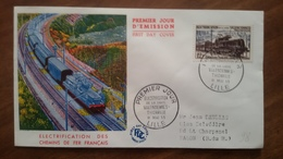 Premier Jour  FDC..  ELECTRIFICATION De  La LIGNE  VALENCIENNES - THIONVILLE .. 1955 - FDC