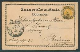 BOSNIA. 1899 (14 April). Gorazda - Brunn. Fkd Early Card KK Military Cachet + Arrival + Text. - Bosnie-Herzegovine