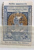 NAVIGAZIONE ANTICO VELIERO 4 CENTENARIO DESCOBRIMENTO DA INDIA  Colore Azzurro E Oro - Erinnophilie