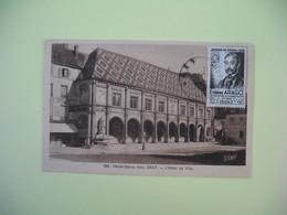 Carte 1944 - 1 Er Exposition Philatélique-Maximaphile Gray - Haute Saône - Hotel De Ville - Expositions