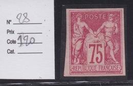COLONIES FRANCAISES - EMISSIONS GENERALES : N°28. Cote 120€. Neuf Ch.. - Sage