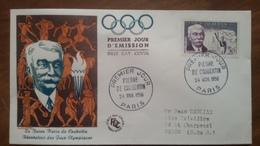 Premier Jour  FDC..  PIERRE  DE  COUBERTIN .. 1956 .. PARIS - Other