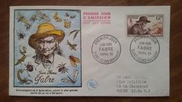 Premier Jour  FDC..  JEAN  HENRI  FABRE .. 1956 .. PARIS - FDC