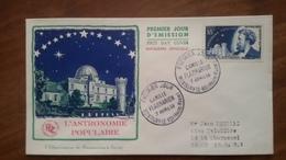 Premier Jour  FDC..  CAMILLE  FLAMARION .. 1956 .. MONTIGNY Le ROI ..astronome - FDC
