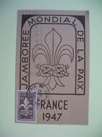 Carte Maximum 1947 N° 787  Jamborée Mondial De La Paix - Cartes-Maximum
