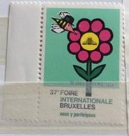 FIERA INTERNAZIONALE DI BRUXELLES - Erinnophilie