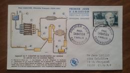 Premier Jour  FDC..  PAUL  SABATIER .. 1956 ..  CARCASSONNE ..  Chimiste - FDC