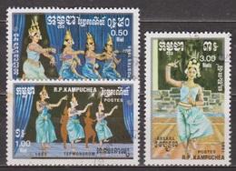 Folklore - KAMPUCHEA - Danses Traditionnelles Khmères - N° 543 à 545 - 1985 - Kampuchea