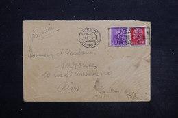 ITALIE - Enveloppe De Firenze Pour Riom En 1929 , Affranchissement Plaisant - L 25615 - Marcofilía