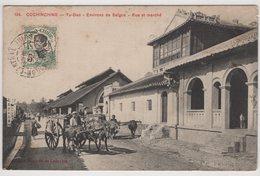 8698 Vietnam Cochinchine Tu-Duc Rue Et Marché Stamping Indo-Chine Saigon - Vietnam