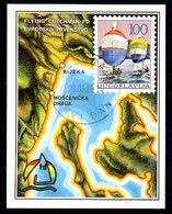 YUGOSLAVIA 1986 Sailing Championships Block Used.  Michel Block 28 - Blocs-feuillets