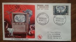 Premier Jour  FDC..  TELEVISION .. 1955 .. PARIS .. - Other