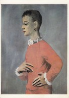 Postcard Pablo Picasso Boy In Harlequin Jacket Worcester Art Museum Mass  My Ref  B23429 - Paintings