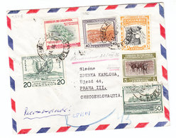 Colombia AIRMAIL REGISTERED COVER 1956 - Colombia