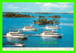 SHIP, BATEAUX - THOUSAND ISLAND CRUISE BOATS, GANANOQUE, ONTARIO - PHOTO H. OAKMAN - TRAVEL IN 1986 - - Commerce