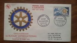 Premier Jour  FDC..   Rotary  International  . 1955. .cinquantenaire  .. Paris - FDC
