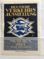 DEUTSCHE VERKEHRS AUSSTELLUNG MJUNCHEN 1925  ESPOSIZIONE TEDESCA DEI TRASPORTI - Erinnophilie