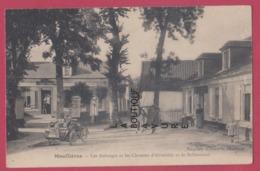 80 - MOUFLIERES----Les Auberges Et Les Chemins D'Abbeville Et De Bellancourt----belle Automobile--animé - Autres Communes