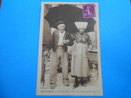 """17 ) Ile D'oléron - Saint-trojan - Type Du Pays """" Aux Bons Oignons """" Année 1932 - EDIT : Courtois - Ile D'Oléron"""