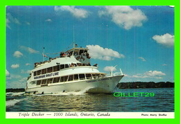 SHIP, BATEAUX - THOUSAND ISLAND CRUISE BOATS, GANANOQUE, ONTARIO - TRIPLE DECKER - PHOTO MARTY SHEFFER - - Commerce