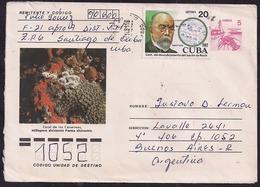 Cuba - 1991 - Letter - Tuberculose - Robert Koch - Centenaire De La Découverte Du Bacille De Koch - Enfermedades