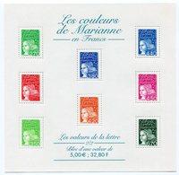 RC 11959 FRANCE BF N° 42 LES COULEURS DE MARIANNE BLOC FEUILLET NEUF ** A LA FACIALE - Blocs & Feuillets