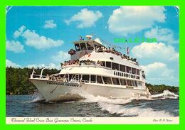 "SHIP, BATEAUX - "" THOUSAND ISLANDER II ""  CRUISE BOATS, GANANOQUE, ONTARIO - TRIPLE DECKER - PHOTO MARTY SHEFFER - - Commerce"