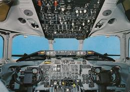 Swissair DC 9 Cockpit Airline Issue Postcard - 1946-....: Ere Moderne