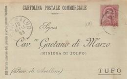 San Salvo. 1899. Annullo Grande Cerchio SAN SALVO, Su Cartolina Postale Commerciale - 1878-00 Umberto I