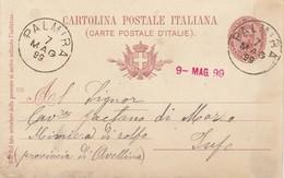 Palmira. 1899. Annullo Grande Cerchio PALMIRA, Su Cartolina Postale, Con Testo - 1878-00 Umberto I