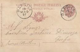 Rapolla. 1897. Annullo Grande Cerchio RAPOLLA, Su Cartolina Postale, Con Testo - 1878-00 Umberto I