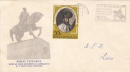 7204FM- KING MICHAEL THE BRAVE OF ROMANIA, CLUJ NAPOCA MONUMENT, SPECIAL COVER, 1976, ROMANIA - 1948-.... Républiques