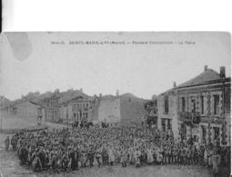 51-2- SAINTE-MARIE-A-PY - SOLDATS ALLEMANDS SUR LA PLACE - France