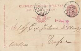 Ortanova. 1899. Annullo Grande Cerchio ORTANOVA, Su Cartolina Postale, Con Testo - 1878-00 Umberto I