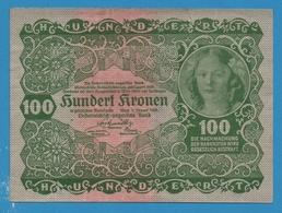 AUSTRIA 100 KRONEN 02.01.1922 Serie 1229 No 046180 P# 77  Oesterreichisch-ungarische Bank - Autriche